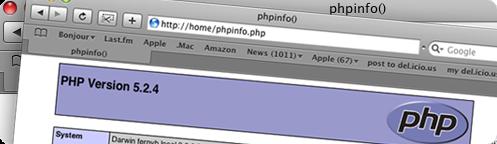 PHP Mac OS X 10.5